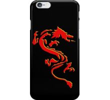 Double Dragon Red andYellow iPhone Case/Skin