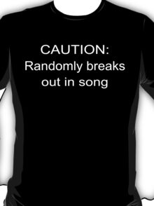 Caution musical lovers Funny Geek Nerd T-Shirt
