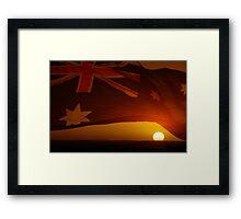 Setting Sun Framed Print
