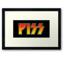 PISS Framed Print