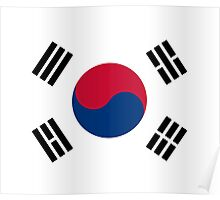 I Love Korea - South Korean Flag T-Shirt and Sticker Poster