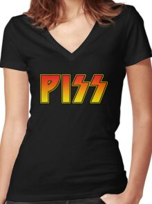 PISS Women's Fitted V-Neck T-Shirt
