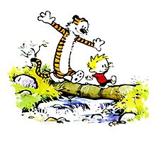 Calvin and hobbes funny Time Photographic Print