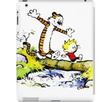 Calvin and hobbes funny Time iPad Case/Skin