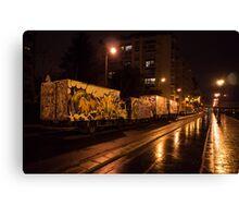 Tagged trucks Canvas Print