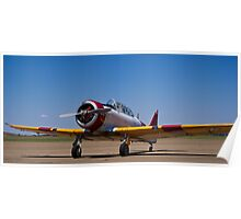 North American Rokwell Harvard AT-6C (SAAF 69) (ZU-FNE) Poster