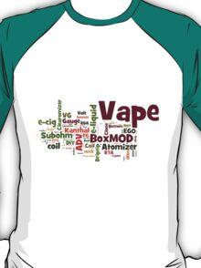 Vape Text Cloud T-Shirt