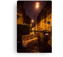 Couch in the street Canvas Print