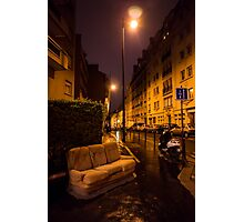 Couch in the street Photographic Print