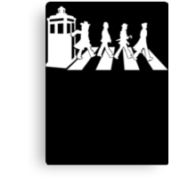 Abbey Road Tardis Doctor Who Canvas Print