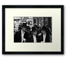 New York Boys, Friends in the Street, Manhattan Framed Print