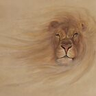 Lion in Sandstorm by Sandra Poirier