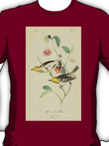 James Audubon Vector Rebuild - The Birds of America - From Drawings Made in the United States and Their Territories V 1-7 1840 - Hermit Wood Warbler T-Shirt