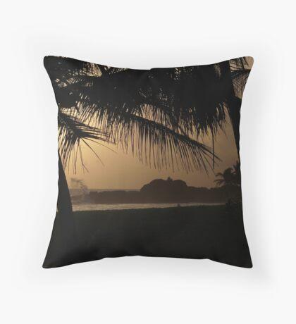 Sunset at Heritance hotel, Sri Lanka Throw Pillow