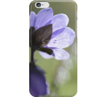 Wild Hepatica flower iPhone Case/Skin