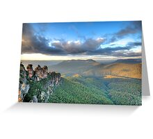 Sisters With A View - Blue Mountains World Heritage Greeting Card