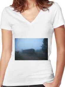 Ghost Train Women's Fitted V-Neck T-Shirt