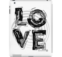 Love, black and white. iPad Case/Skin