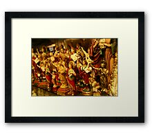 red gold religion Framed Print