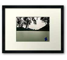 Banking problems at the best/worst time. Framed Print