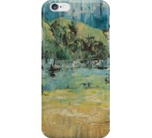 Beach with sea view and mountains iPhone Case/Skin