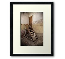 Decay Stairs Framed Print