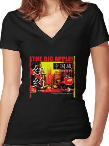 chinatown 3 Women's Fitted V-Neck T-Shirt