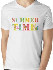 summer time (happy type) Mens V-Neck T-Shirt