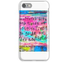 scattered bits and pieces of inspirations iPhone Case/Skin