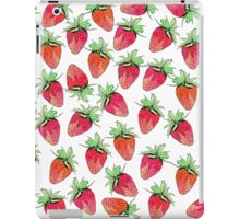 Bright Colorful Watercolor Fruity Strawberries iPad Case/Skin