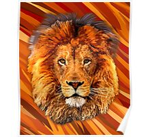 Old Lion Digital art Painting Poster