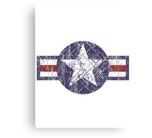 USAF US Airforce Roundel Canvas Print