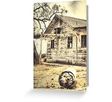 """""""Abandoned"""" Digitally Altered Photography Greeting Card"""