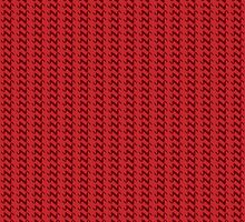 Red knitted pattern.  by artredppb
