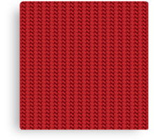 Red knitted pattern.  Canvas Print