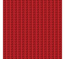 Red knitted pattern.  Photographic Print