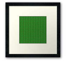 Green knitted pattern.  Framed Print