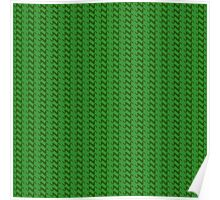Green knitted pattern.  Poster