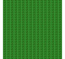 Green knitted pattern.  Photographic Print