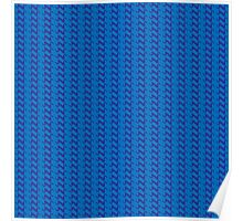 Blue knitted pattern.  Poster