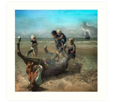 The Discovery of a Pointillist Horse Art Print