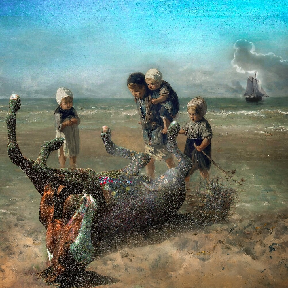 The Discovery of a Pointillist Horse by Jeff Kingston