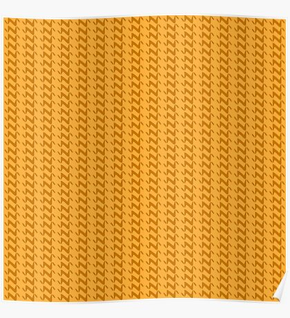 Yellow knitted pattern.  Poster