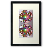 Rainbow spheres Framed Print