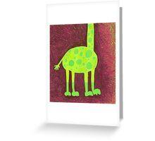 gustav giraffe - his feet Greeting Card