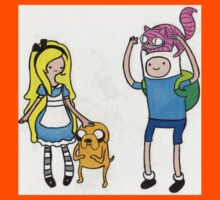 Alice's Adventure In Ooo - Alice in Wonderland/Adventure Time Crossover Kids Clothes