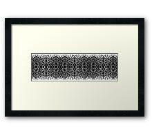Black and White Magic Framed Print