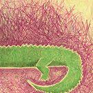 konrad krokodile - his back by Maren Spreemann