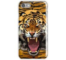 Tiger Roar Digital art Painting iPhone Case/Skin