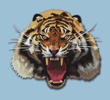 Tiger Roar Digital art Painting Kids Tee